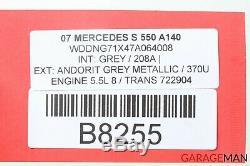 07-09 Mercedes W221 S550 CL550 ABS Anti Lock Brake Pump Module 2215455232 OEM