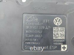 09 ABS Pump 1K0 614 517 BE 1K0 907 379 AP Anti Lock Brake Module OEM EOS Audi VW