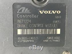 2002 2006 Volvo S60 V70 S80 XC90 ABS Anti-Lock Module Brake Controller 8671224