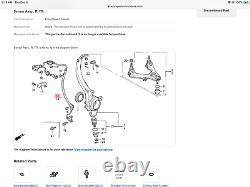 91-95 Legend Right Front ABS Sensor A. L. B. Wheel Speed Pickup Knuckle Reader OEM