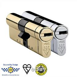 Avocet ABS 3 Star High Security Euro Cylinder Lock UPVC Anti Snap Bump Pick