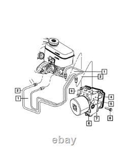Genuine MOPAR Anti-Lock Brake System Module 68089120AB