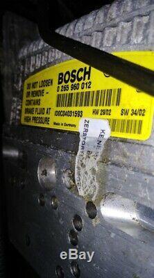 Mercedes Sl350 500 R230 W211 Brake Anti Lock Sbc Abs Pump A0054317112 0265960012