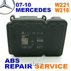 REPAIR SERVICE 07-10 MERCEDES W221 W216 S-class CL-class ABS ESP ABR Module