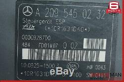 02-05 Mercedes W203 C230 Clk320 Abs Antiblocage Pompe De Frein Module Esp Unité Oem