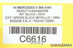 03-08 Mercedes W211 E500 Sl500 Abs Sbc Antiblocage Verrouillage Hydraulique Pompe Q6 Oem