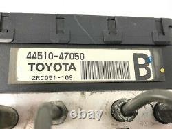 04-09 Toyota Prius Abs Pompe Partie De Frein Anti-blocage Actionneur Et L'assemblage De Pompe Oem