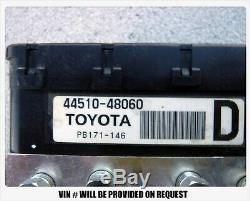 06 07 08 Ensemble Pompe À Frein Antiblocage Lexus Rx400 Toyota Highlander Hybride Abs
