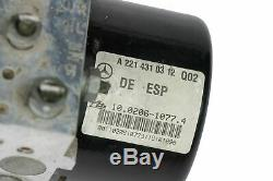 07-09 Mercedes W221 S550 W216 Cl600 Abs Esp Pompe De Frein Module A2215452632 Oem