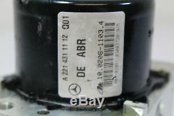 07-09 W221 W216 Mercedes Cl550 S500 Abs Pompe Antiblocage Pompe De Frein A618