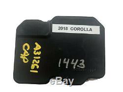 18 19 Toyota Corolla Abs Pompe Anti Blocage De Frein Module 44540-02551 89541-02471