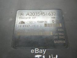 2001 Mercedes C240 oem Module De Commande De Freinage Antiblocage 2035451632 Abs Esp W203