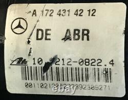 2012 2014 Mercedes-benz C250 Abs Anti Lock Brake Pump Module A 172 431 42 12