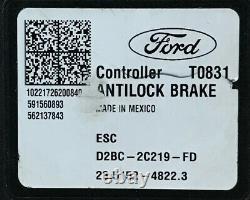 Ford Fiesta Abs Anti Lock Brake Pump 2017 2017 2018 / Module D2bc-2c405-fd