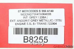 Module Anti-blocage 2215455232 De Pompe De Frein Abs De Mercedes W221 S550 Cl550 Abs De 07-09 Oem