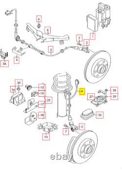 Nouveau Véritable Audi Tt Mk1 Abs Gauche Freins Antiblocage Avant-capteur De Fil 8n0927903e