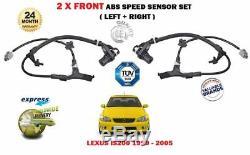 Pour Lexus Is200 2.0 1999-05 Nouveau Capteur De Vitesse Antiblocage Abs Avant Gauche + Droit